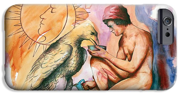 Homo-erotic iPhone Cases - Ganymede and Zeus iPhone Case by Rene Capone