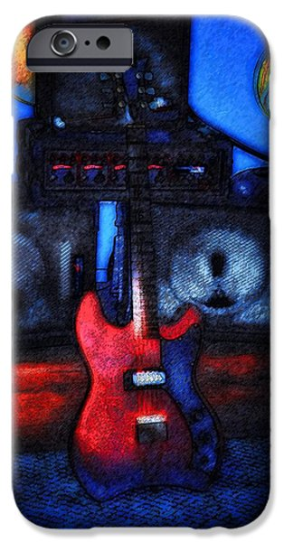 Jet Star Digital Art iPhone Cases - Garage Rock iPhone Case by Bill Cannon