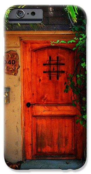 Garden doorway iPhone Case by Perry Webster