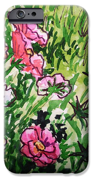 Garden Flowers Sketchbook Project Down My Street iPhone Case by Irina Sztukowski