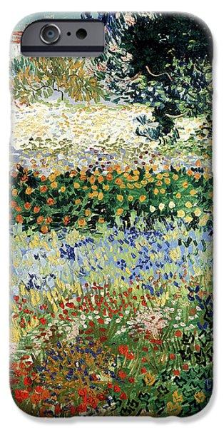 Floral Gardens iPhone Cases - Garden in Bloom iPhone Case by Vincent Van Gogh
