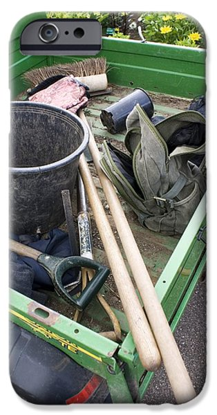 Best Sellers -  - Work Tool iPhone Cases - Garden Tools In Truck iPhone Case by Mark Williamson