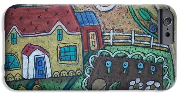 House Pastels iPhone Cases - Gardening iPhone Case by Karla Gerard