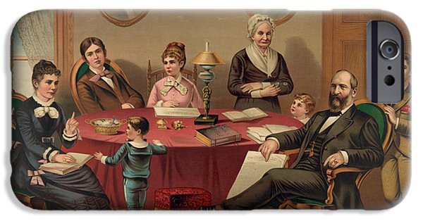 Irvin iPhone Cases - GARFIELD: FAMILY, c1881 iPhone Case by Granger