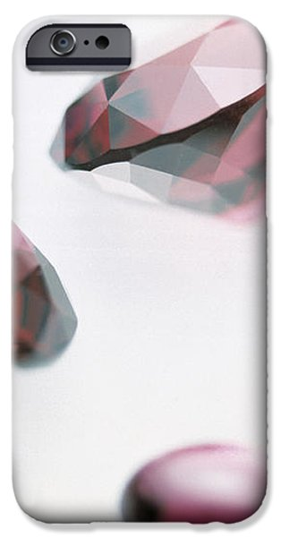 Garnet Gemstones iPhone Case by Lawrence Lawry