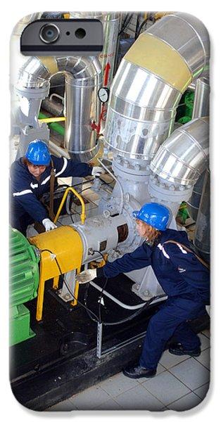 Compressor iPhone Cases - Gas Compressor Servicing iPhone Case by Ria Novosti