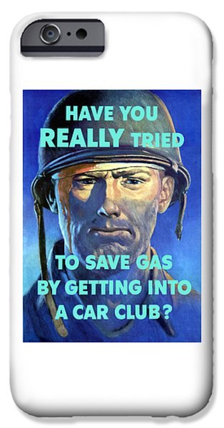 Wounded iPhone Cases - Gas Conservation iPhone Case by War Is Hell Store