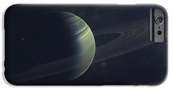 Disc iPhone Cases - Gas Giant Orbiting Sirius Star iPhone Case by Tomasz Dabrowski