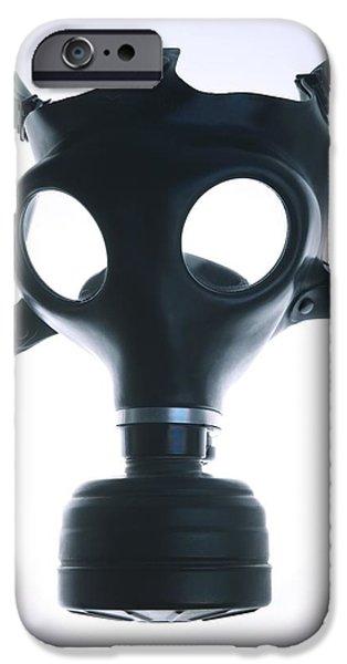Biochemical iPhone Cases - Gas Mask iPhone Case by Cristina Pedrazzini