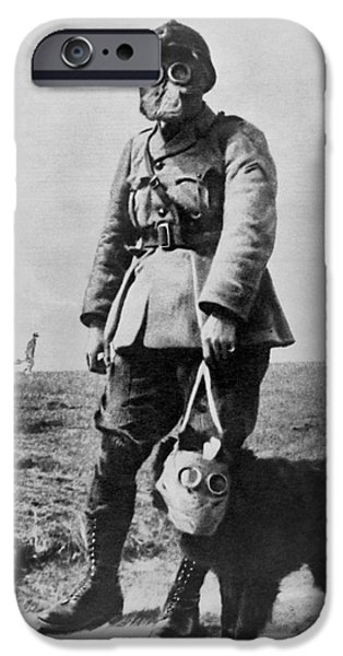 Wwi iPhone Cases - Gas Masks In Wwi 1914-18 iPhone Case by Library of Congress