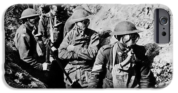 Ww1 iPhone Cases - Gas Masks, World War I iPhone Case by Photo Researchers