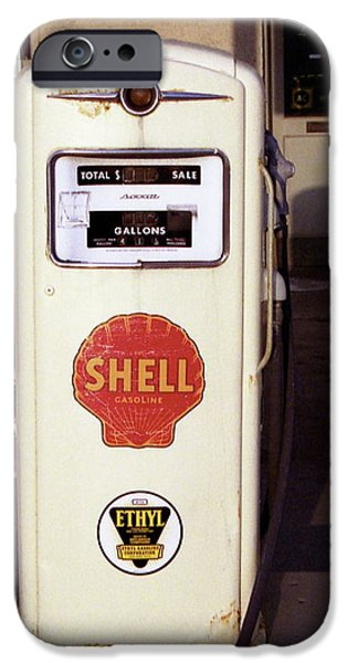 Asphalt iPhone Cases - Gas Pump iPhone Case by Michael Peychich