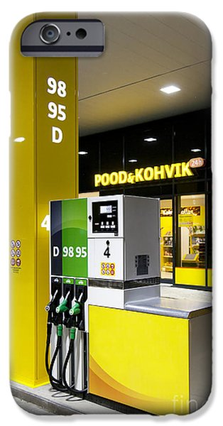 Gas Pumps at a Station iPhone Case by Jaak Nilson