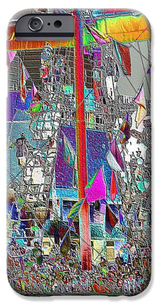 Pirate Ship iPhone Cases - Gasparilla Pirates Invade Tampa iPhone Case by Carol Groenen