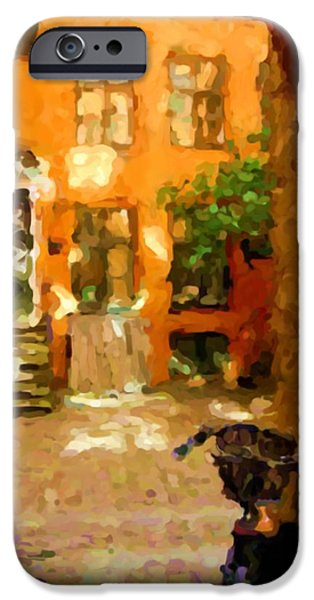 Asbjorn Lonvig Digital iPhone Cases - Gateway to Backyard Beauty iPhone Case by Ozborne-Whilliamsson