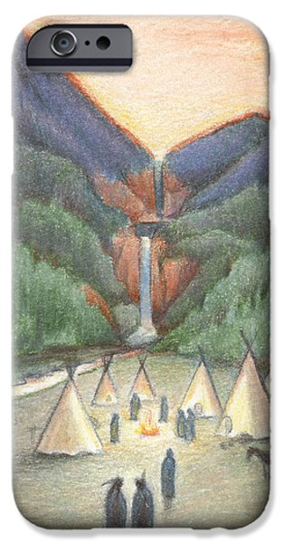 Aceo iPhone Cases - Gathering At The Falls iPhone Case by Amy S Turner