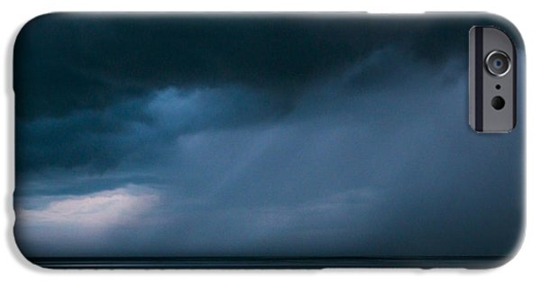 Storm Clouds Cape Cod iPhone Cases - Gathering Storm iPhone Case by John Greim
