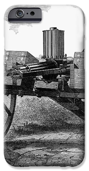 GATLING GUN, 1872 iPhone Case by Granger