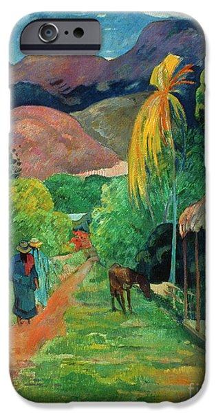19th Century iPhone Cases - GAUGUIN TAHITI 19th CENTURY iPhone Case by Granger