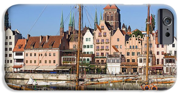 Tall Ship iPhone Cases - Gdansk in Poland iPhone Case by Artur Bogacki
