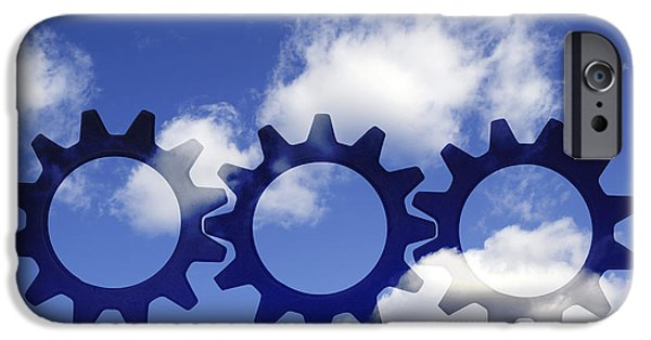 Cooperation iPhone Cases - Gears concept iPhone Case by Tony Cordoza