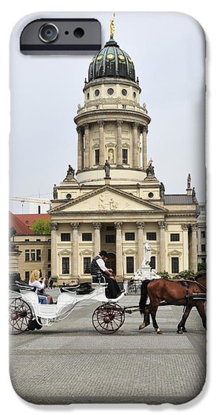Horse And Buggy Photographs iPhone Cases - Gendarmenmarkt Berlin Germany iPhone Case by Matthias Hauser