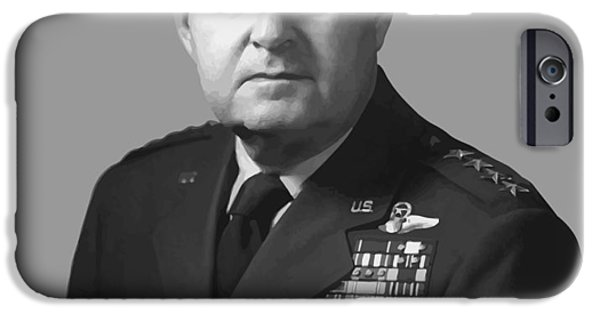 July 4th Digital Art iPhone Cases - General Curtis Lemay iPhone Case by War Is Hell Store