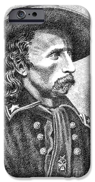 General Custer iPhone Case by Gordon Punt