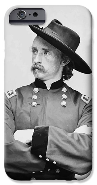 Stand iPhone Cases - General Custer iPhone Case by War Is Hell Store