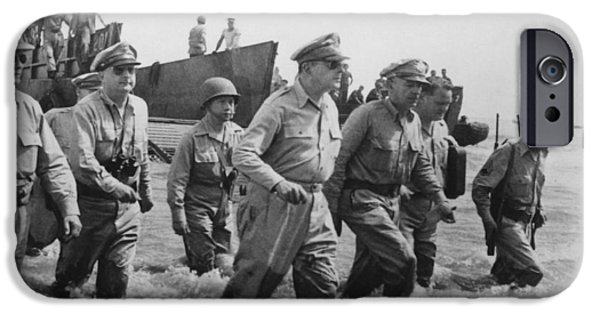 Recently Sold -  - Ww1 iPhone Cases - General Douglas MacArthur Returns iPhone Case by War Is Hell Store