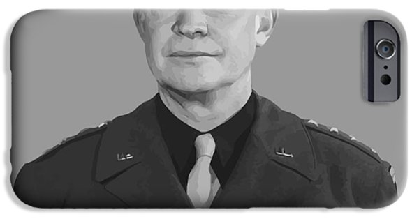 U.s History iPhone Cases - General Dwight D. Eisenhower iPhone Case by War Is Hell Store