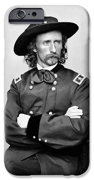 Stand iPhone Cases - General George Armstrong Custer iPhone Case by War Is Hell Store