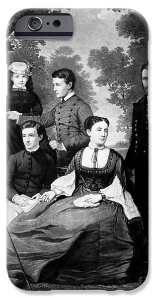 First Family iPhone Cases - General Grant And Family iPhone Case by Granger