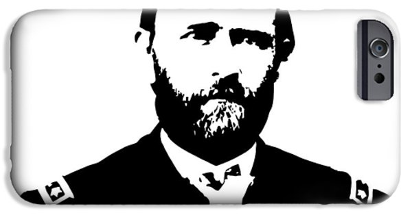 President iPhone Cases - General Grant Black and White  iPhone Case by War Is Hell Store