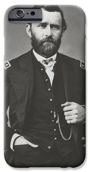 Warrior iPhone Cases - General Grant During The Civil War iPhone Case by War Is Hell Store