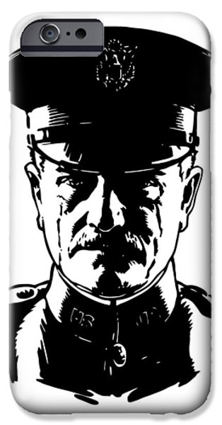 Wwi Digital Art iPhone Cases - General John Pershing iPhone Case by War Is Hell Store