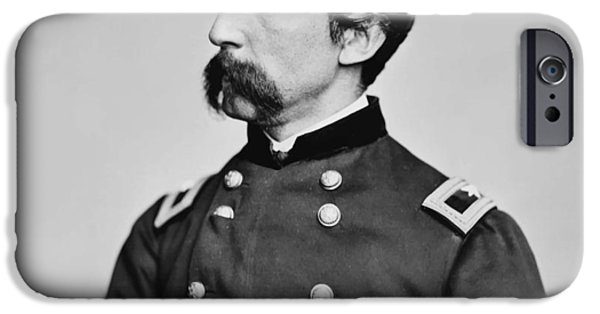 Maine iPhone Cases - General Joshua Chamberlain  iPhone Case by War Is Hell Store
