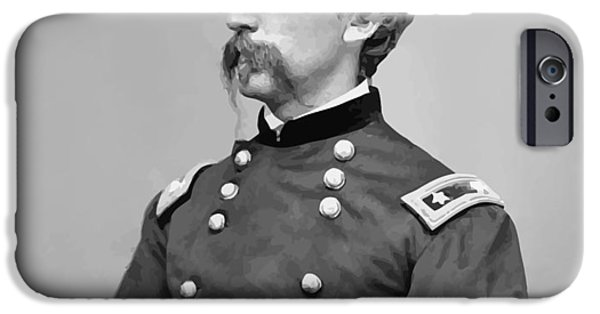 Maine iPhone Cases - General Joshua Lawrence Chamberlain iPhone Case by War Is Hell Store