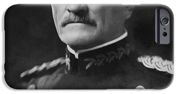 Wwi Digital Art iPhone Cases - General Pershing iPhone Case by War Is Hell Store