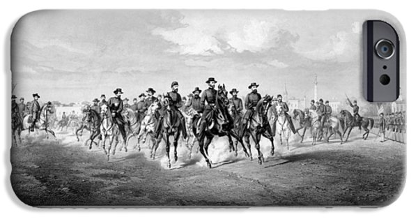 The Horse iPhone Cases - General Sherman At Savannah iPhone Case by War Is Hell Store