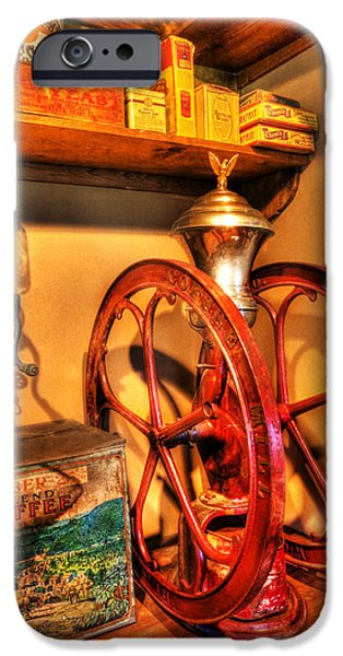 Buy Goods iPhone Cases - General Store Coffee Mill - nostalgia - vintage iPhone Case by Lee Dos Santos
