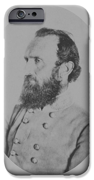 American History Mixed Media iPhone Cases - General Thomas Stonewall Jackson iPhone Case by War Is Hell Store