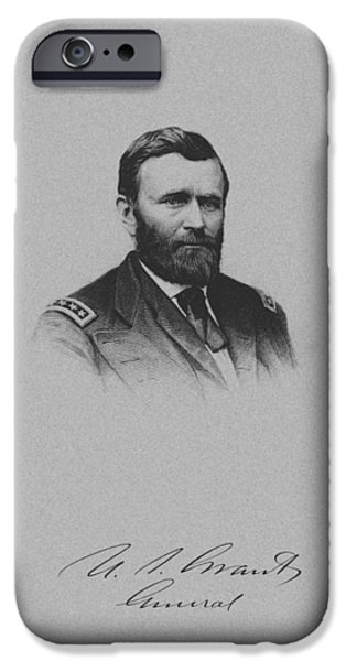 President iPhone Cases - General Ulysses Grant And His Signature iPhone Case by War Is Hell Store