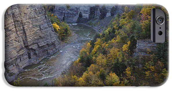 Autumn Photographs iPhone Cases - Genesee River Gorge II iPhone Case by Rick Berk