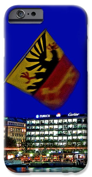 Geneva Switzerland in the Evening iPhone Case by Chris Smith