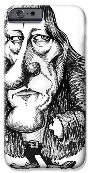 Georg Hegel, Caricature iPhone Case by Gary Brown