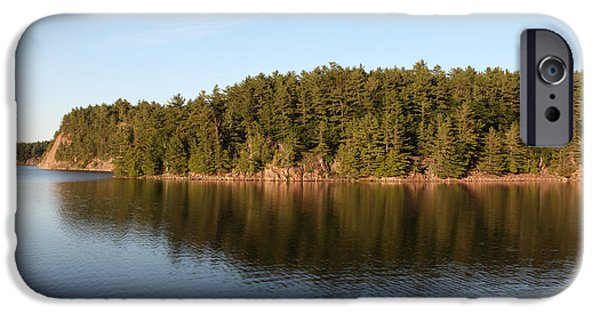 Killarney Provincial Park iPhone Cases - George Lake, Canada iPhone Case by Ted Kinsman