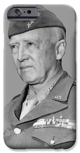Recently Sold -  - Ww1 iPhone Cases - George S. Patton iPhone Case by War Is Hell Store