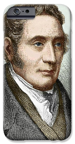 Skewed iPhone Cases - George Stephenson (1781-1848) iPhone Case by Sheila Terry