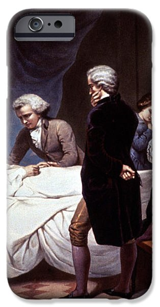 George Washington On His Death Bed iPhone Case by Photo Researchers
